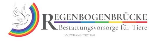 Verein Regenbogenbrücke Bestattungsvorsorge für Tiere